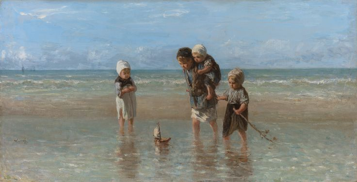 Children of the sea Josef Israëls oil on canvas 1872