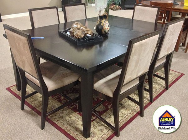 clearance martini table with 6 chairs dining set at your local ashley - Kitchen Tables Clearance