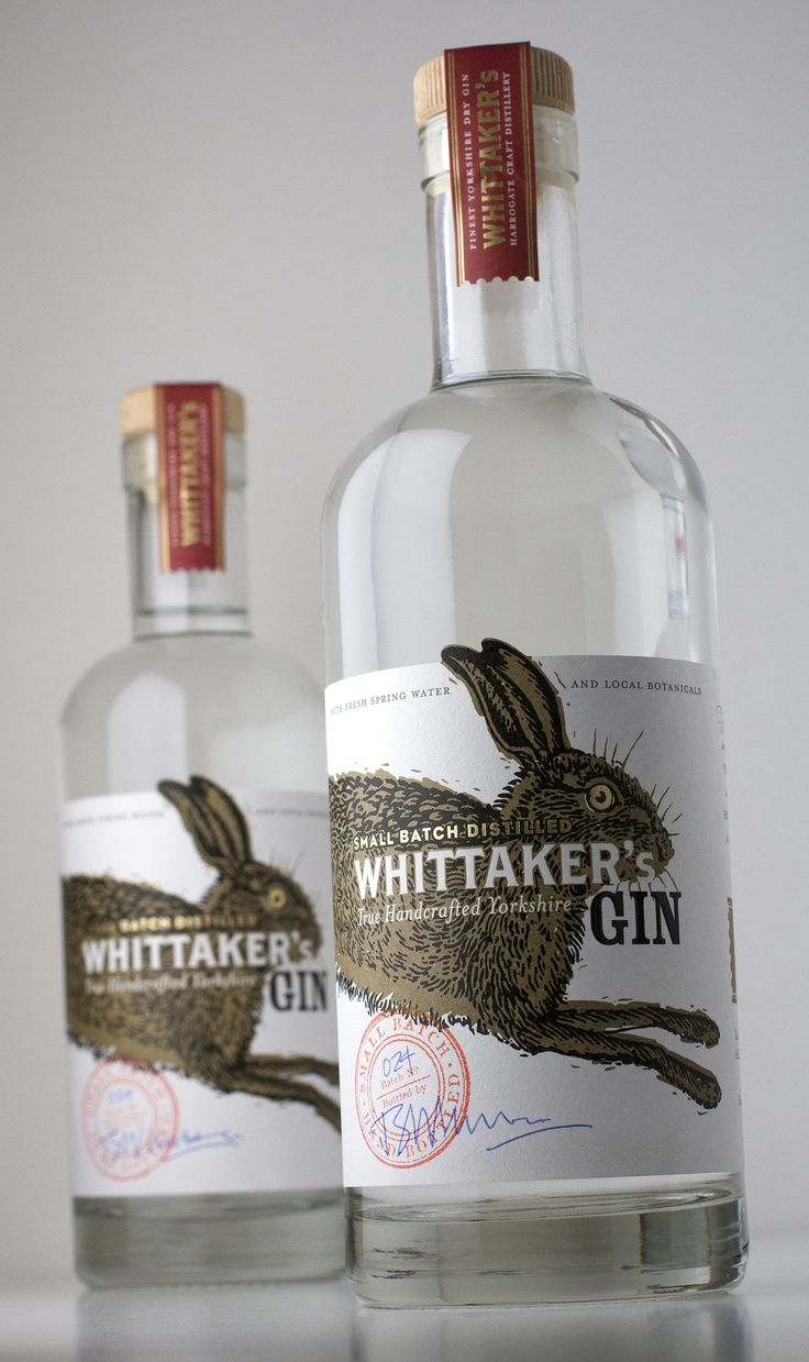 Whittaker's Gin – low volume, hand-distilled, hand-bottled and individually stamped and signed by the distiller at Harewell Farm in the heart of Nidderdale – Harpers Global Design Awards 2015 Bronze Medal