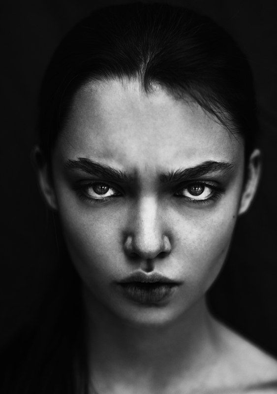 """Attitude .. the face shows it all....anger? doubt? lack of belief? fed up? Sarcastic? """"Don't even go there"""" stare. What do other people see in my emotional face??"""