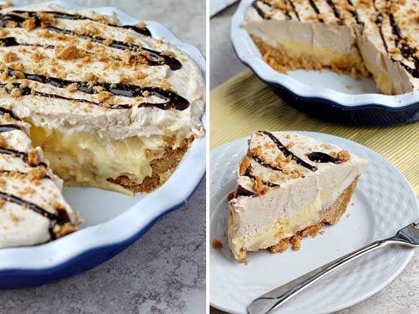 Recept na vynikajúci nepečený zákusok, ktorý si určite zamilujete vďaka kombinácii banánov, arašidového masla, vanilky a čokolády... torta, postup, návod