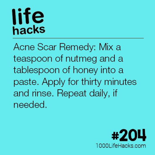 A Natural Acne Scar Remedy: nutmeg and honey