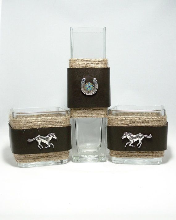 Western+Centerpiece+Rustic+glass+decor+Glass+bud+by+DreamersGifts,+$40.00