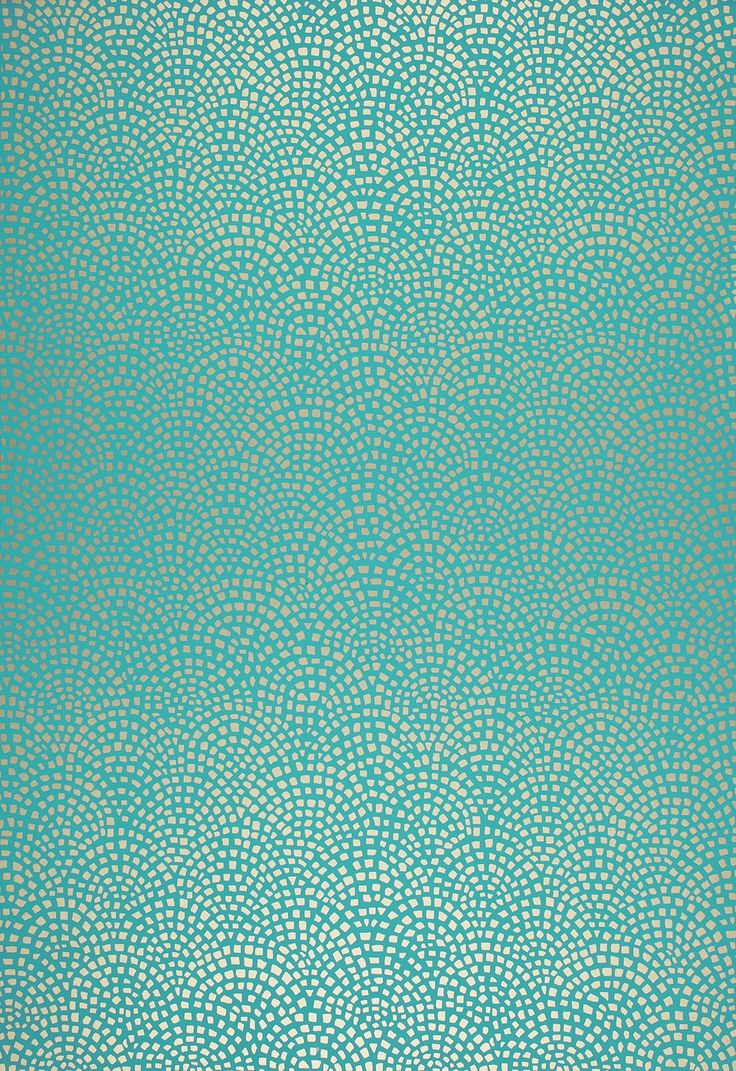 mosiac aqua wallpaper from schumacher this geometric design was inspired by a roman tiled wall - Wallpaper Wall Designs