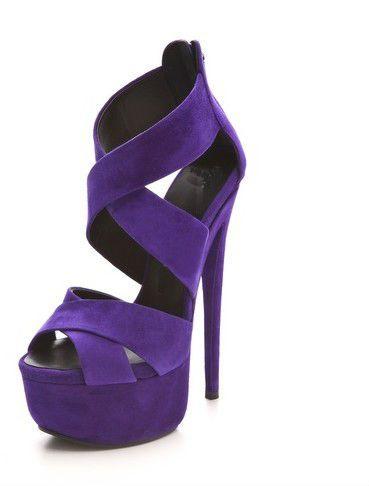 Chaussure à talon, couleur Mauve féminité malgré un domaine brun... une touche de couleur