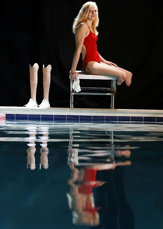 (Paralympics 1) Jessica Long, a bilateral below-the-knee amputee, won the 2007 Sullivan Award and was named USA Swimming's Disability Swimmer of the Year. She began swimming competitively in 2002. She won three gold medals at the 2004 Paralympic Games. #Inspiration