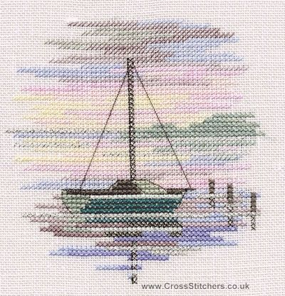 Sailing Boat - Minuets - Cross Stitch Kit from Derwentwater Designs