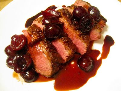 Sauteed Duck Breasts with Cherry Sauce