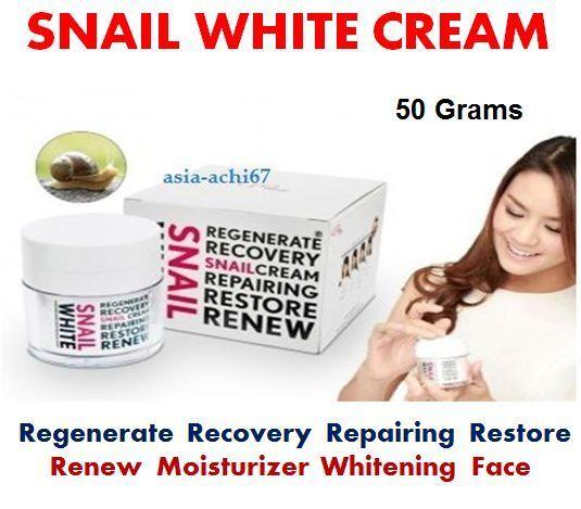 *SNAIL WHITE CREAM, Regenerate Recovery Repairing Restore Renew Moisturizer Whitening Face. 50 Grams. $40.98. CLICK HERE SEE MORE:  http://www.ebay.com/itm/-/161266187315?roken=cUgayN