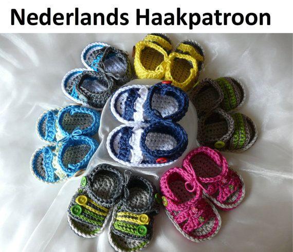 Nederlands Haakpatroon Baby Sandalen  2 by ElodyKnitsforKids