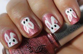 ...: Rin S Nail, Nailart, Bunny Nails, Bunnies, Easter Nails, Easter Bunny, Nail Art
