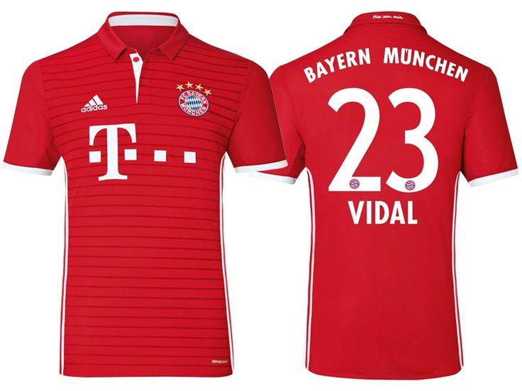 Bayern Munich #23 Arturo Vidal 2016-17 Home Jersey