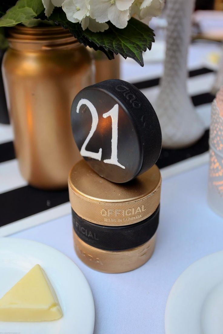 hockey themed table numbers - Google Search