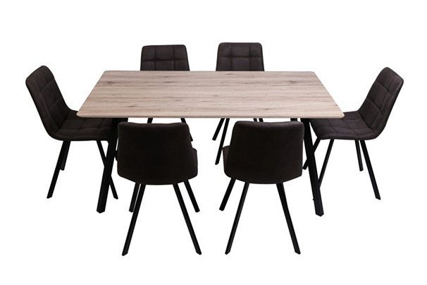 Table 6 Chaises Savina Imitation Chene Sonoma Tables But Ensemble Table Et Chaise Table Et Chaises Table Salle A Manger