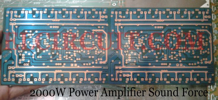 2000W Power Amplifier Circuit Complete PCB Layout Power