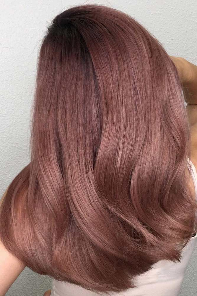 How To Rock Rose Gold Hair When You Re A Brunette