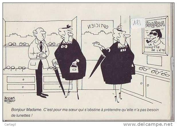 CPM humour - dessin de Jacques Faizant - (sujet et signature voir scan) - Delcampe.net