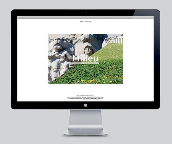 Website design by Hi Ho for Melbourne-based boutique developer Milieu.