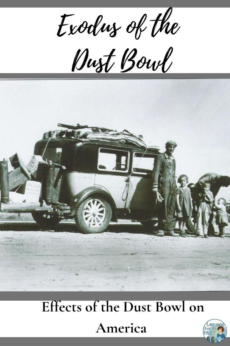 Exodus Of The Dust Bowl Dust Bowl History For Kids High School Social Studies [ 1102 x 735 Pixel ]