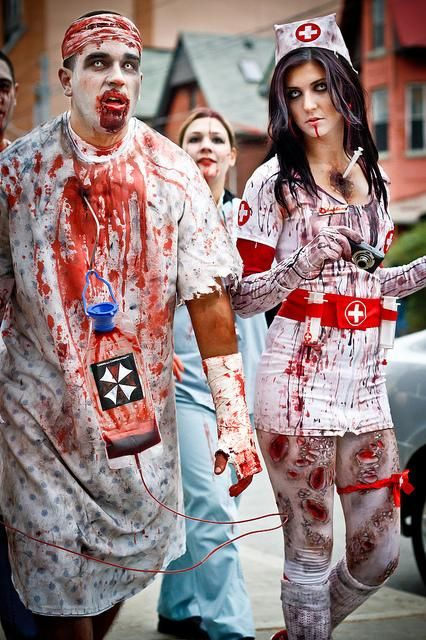 zombie nurse and doctor costumes for halloween - Halloween Costumes Of Zombies