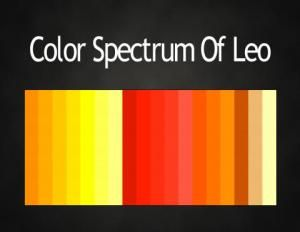 Colors of the Zodiac #astrology color palettes #Leo