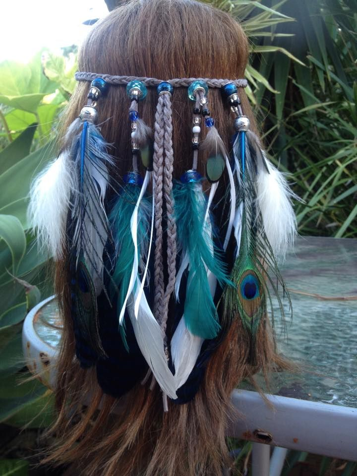 Feather headbands. $30 each. These are made with leather and are adjustable. Green and purple available with more to come.