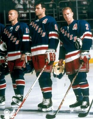 Mark Messier, Eric Lindros and Brian Leetch