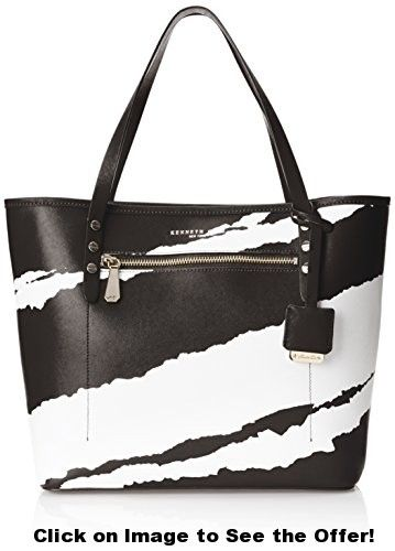 Kenneth Cole New York Dover Tote Shoulder Bag, Black/White, One Size