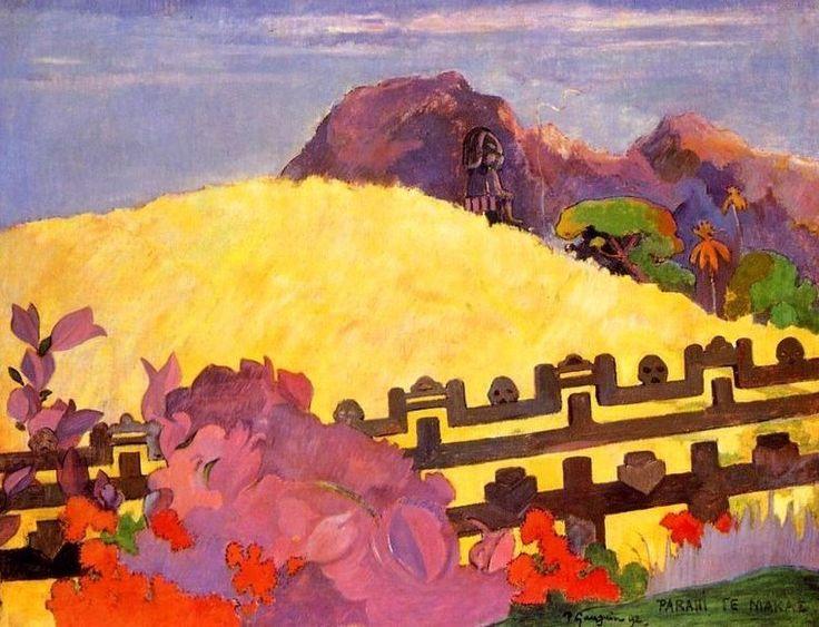 Paul Gauguin, PARAHI TE MARAE, 68 cm x 91 cm, Colore ad olio, Philadelphia Museum of Art