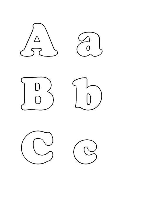 Выкройки букв из фетра - английские - часть 1