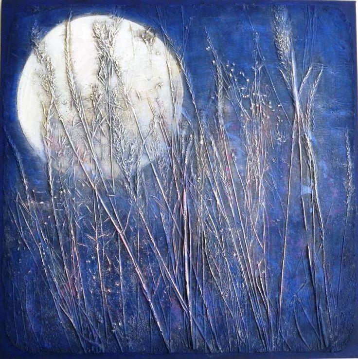 "Saatchi Art Artist Daniela Carletti; Painting, ""Landscape n.10, notturno."" #art"