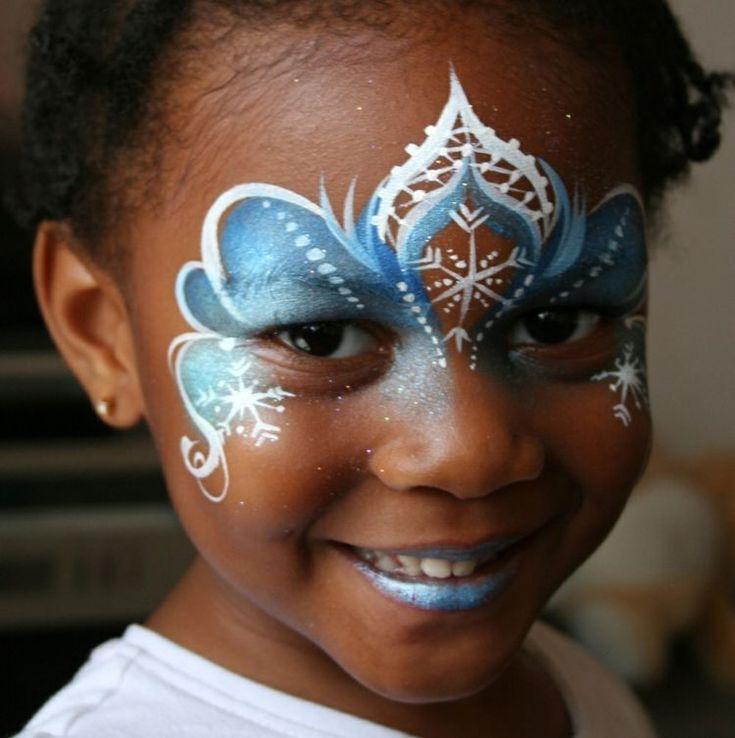 schminken eisprinzessin elsa ideen für gesichtsbemalung #fashing #carnival #FacePainting