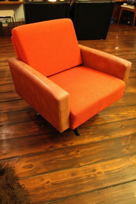 2 designer DDR Sessel rot 70er