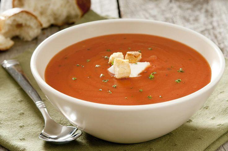 Italiensk cremet peber-tomatsuppe