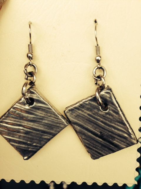 My first pewter earings! I wear them often!
