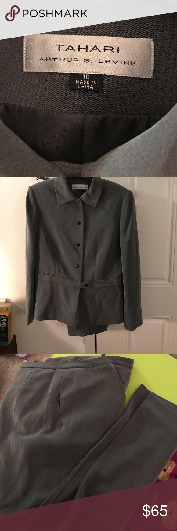 Tahari suit for sale ! Barley worn two piece suit (jacket and pants) Tahari Jackets & Coats Blazers