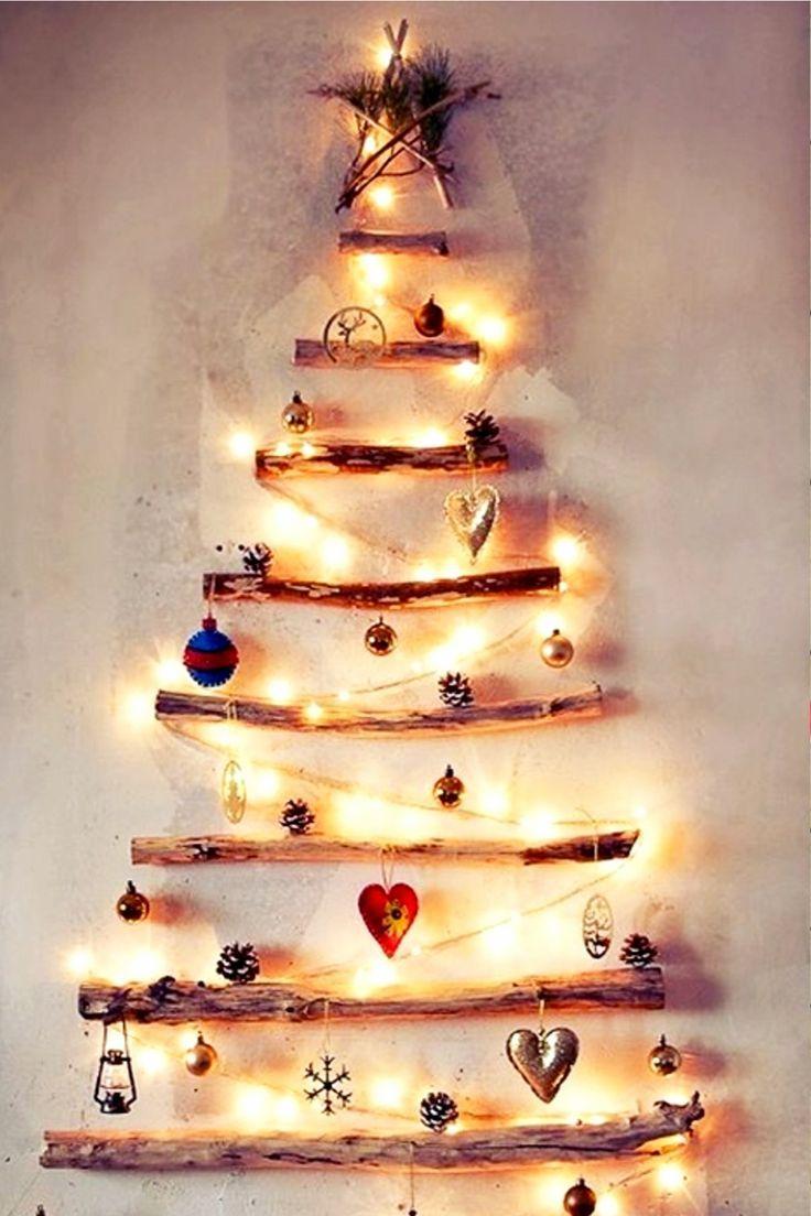 Diy Wall Christmas Tree Ideas With Lights Too Diy Lifestyle Wall Christmas Tree Christmas Decor Diy Cheap Homemade Christmas Decorations