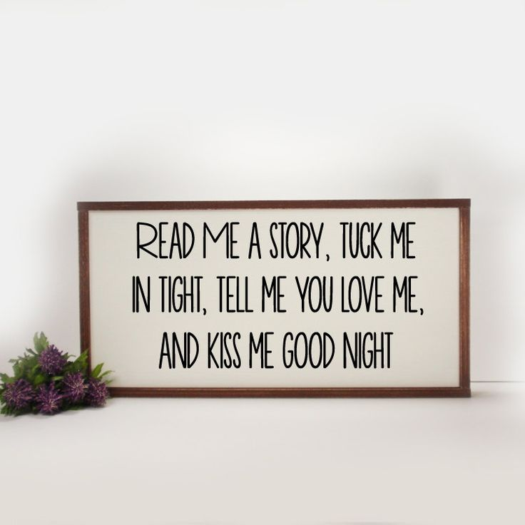 Read Me A Story- Framed Hand Painted  Wood Sign Made From Reclaimed Wood- Bed…