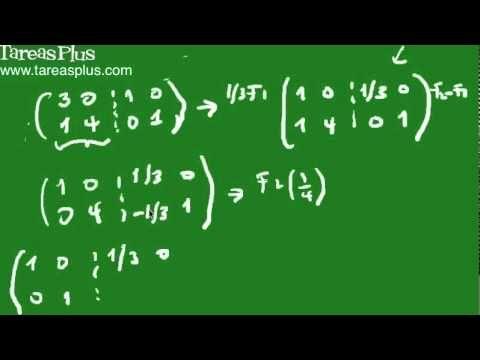 Como calcular la inversa de una matriz parte1 - YouTube