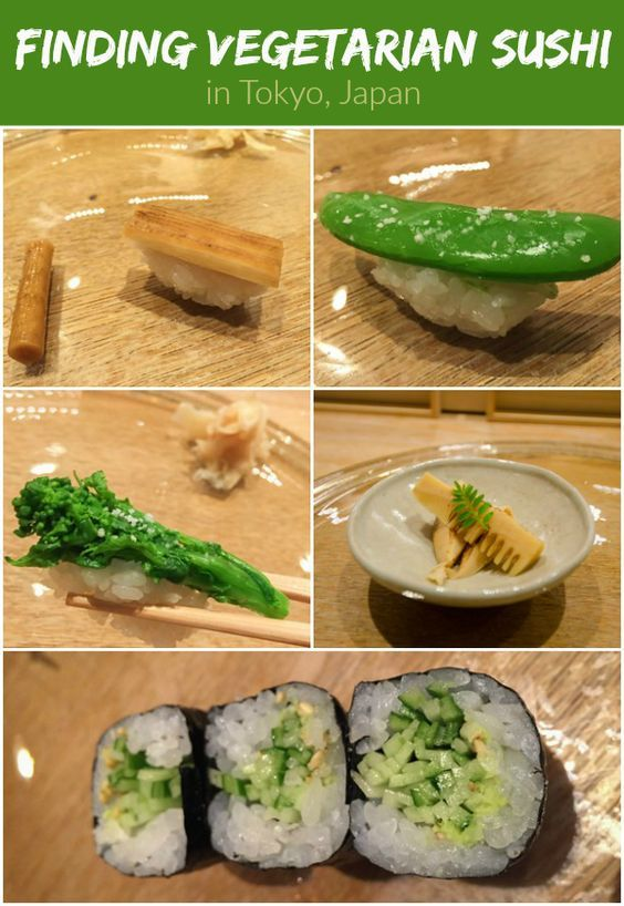A Vegetarian Sushi Experience in Tokyo, Japan: Creative chef-crafted vegan sushi at The SUSHI, @AndazTokyo