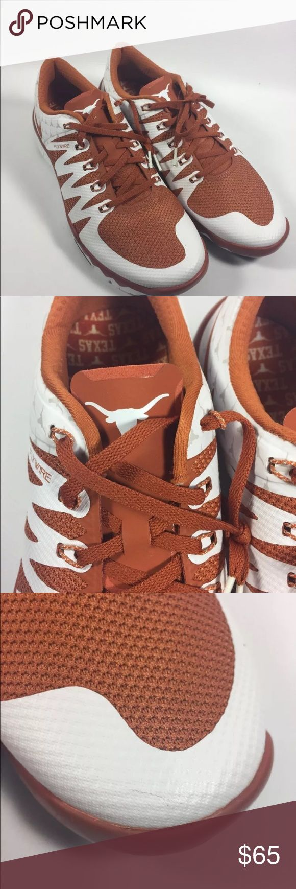 Nike Free Trainer 5.0 V6 AMP Texas Longhorns New NIKE FREE TRAINER 5.0 V6 AMP UNIVERSITY OF TEXAS LONGHORNS 723939 800 11.5.  Might have a few marks from storage but shoes have never been worn and are in new condition. Please see all pictures. Nike Shoes Sneakers