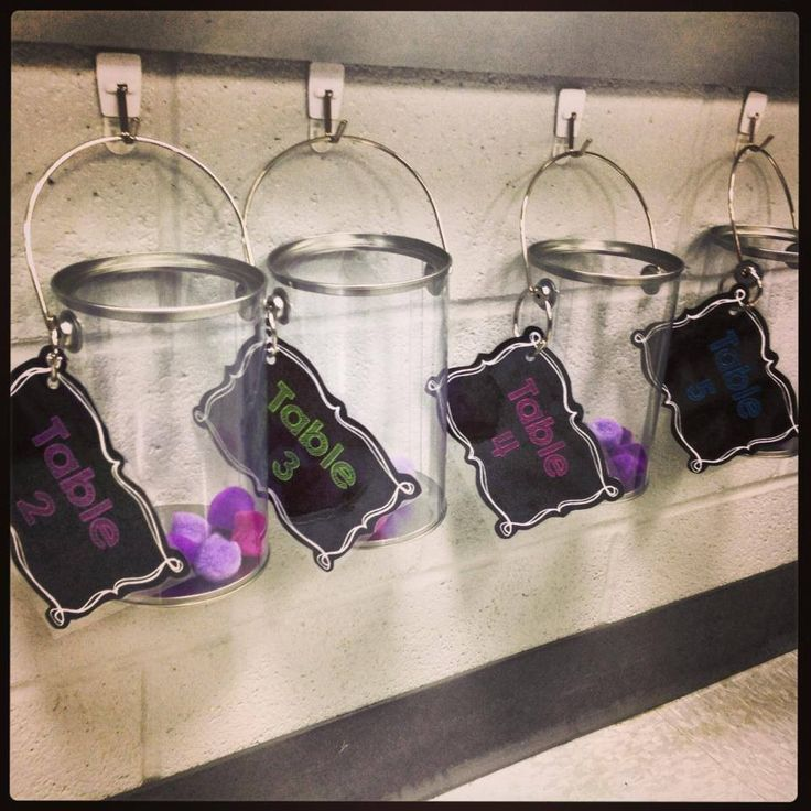 """Cute idea for table points in classroom. .... Follow for Free """"too-neat-not-to-keep"""" teaching tools & other fun stuff :)"""