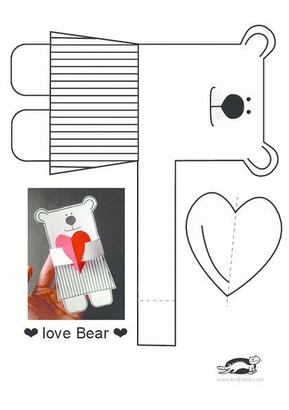 Free printable valentine bear