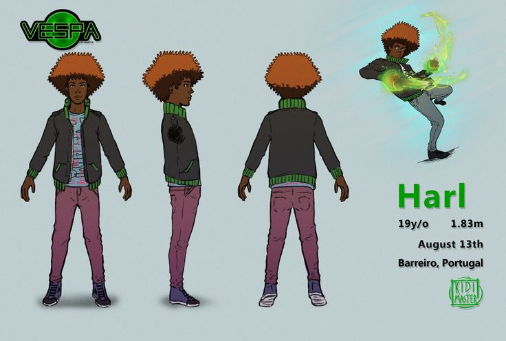 ArtStation - Vespa: Harl's Turnaround, Euclides 'KidiMaster' Gomes