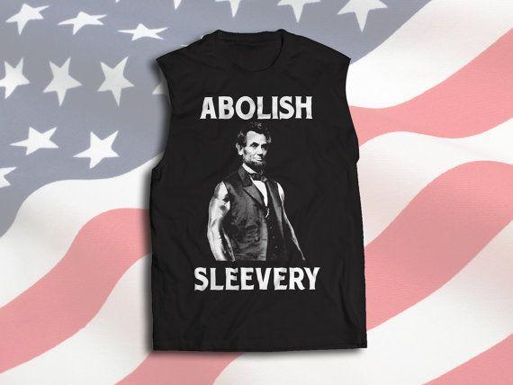 Abolish Sleevery Sleeveless t-shirt by DKtshirts on Etsy
