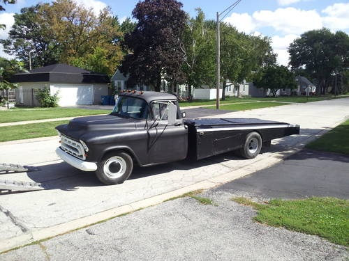 57 Chevy dually car hauler