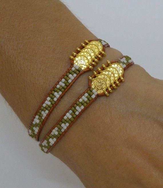 Wrap Bracelet Beaded Wrap Bracelet Wrap Bracelet by NazoDesign