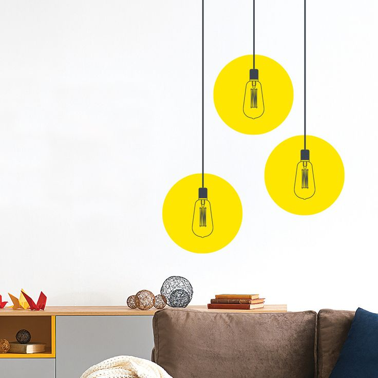 This wall sticker inspired by industrial lights will not increase your electric bill but it will certainly make any room of your home or office look cool. G...