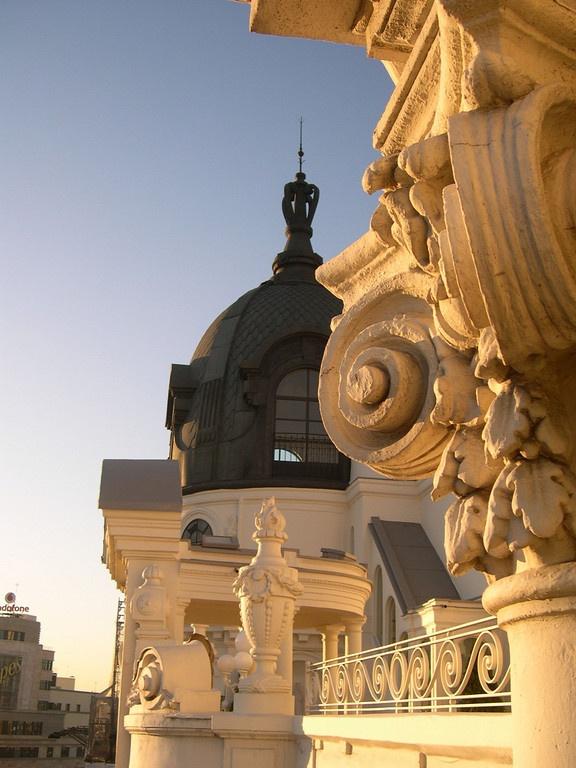 Roofs in Gran Vía, .MADRID