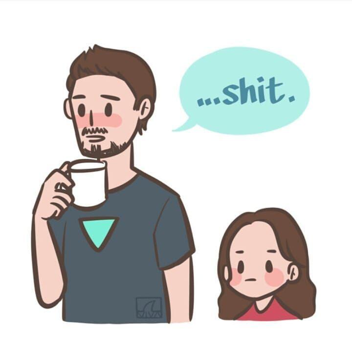 Tony Stark Morgan Stark Avengers Infinitywar Omgpage Comics Cosplay Aesthetic Girlpower Marvel Kids Marvel Funny Marvel Jokes